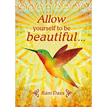 Allow yourself to be beautiful... Birthday Greeting Card (6 Pack)