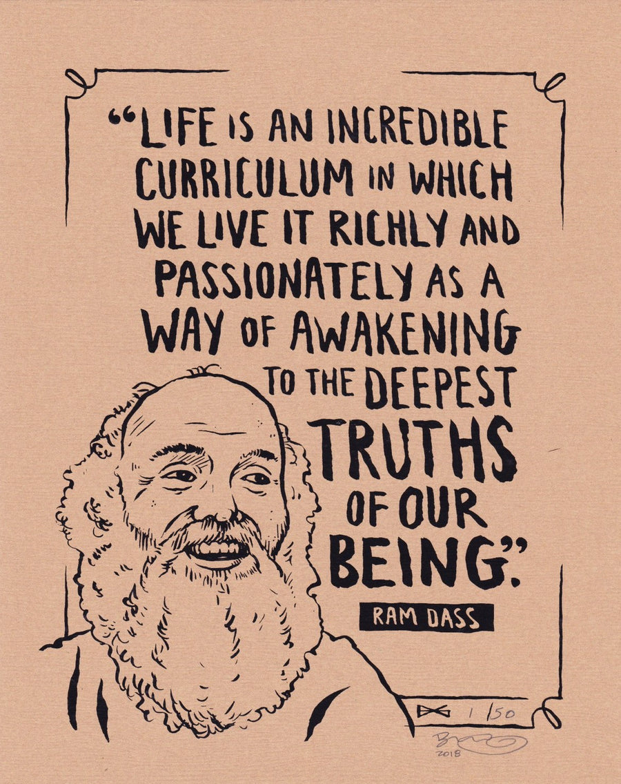 Vintage Ram Dass 1sd Edition Screen Print v.2