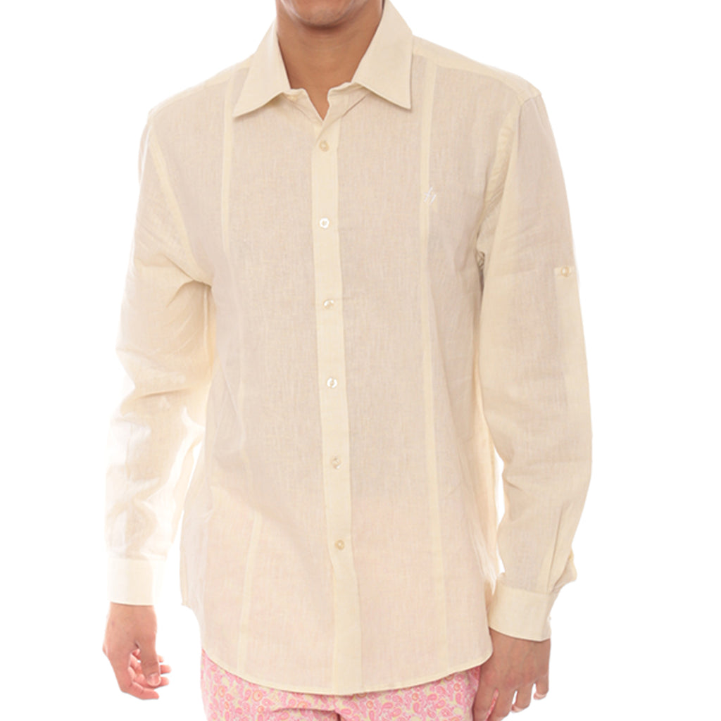 Long Sleeve Delave Linen Shirt