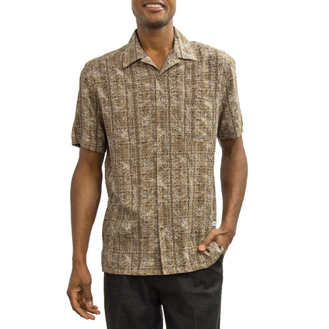 Calm Palm Short Sleeve Collared Shirt
