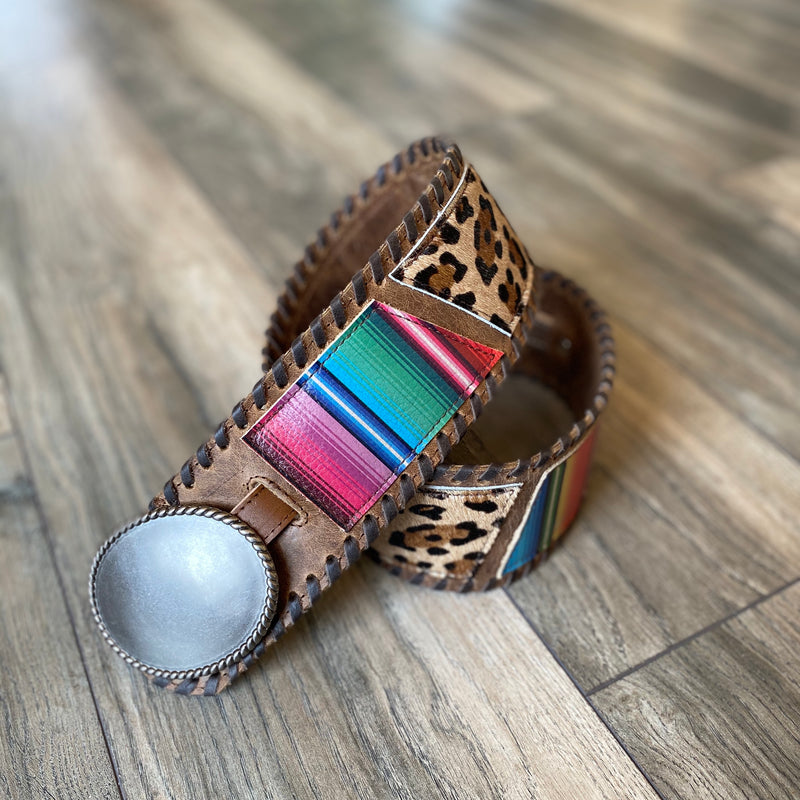 Serape Cheetah Belt