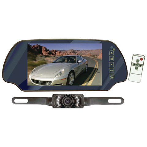"Pyle PLCM7200 7"" LCD Mirror Monitor/Backup Night Vision Camera Kit"