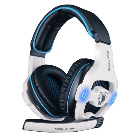 USB Virtual Surround Sound Gaming Headset with LED lights