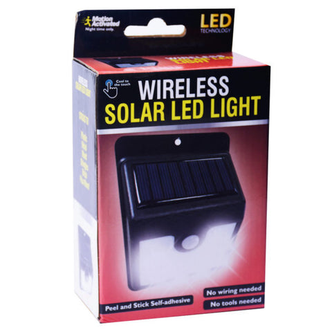 Motion-Activated Wireless Solar LED Light