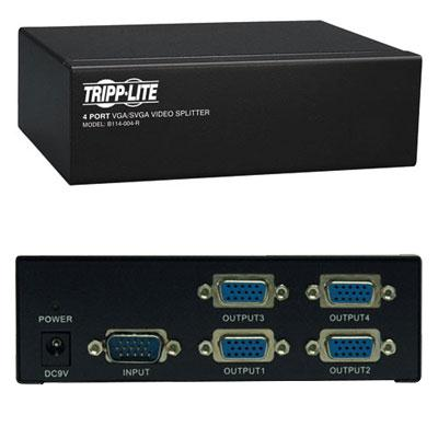 4 Port VGA SVGA Video Splitter