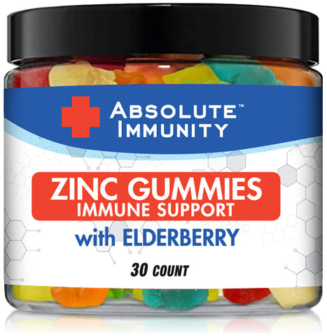 Absolute Immunity- ZINC and Elderberry Gummies - Boost Immune System Health - Adults and Kids 30ct