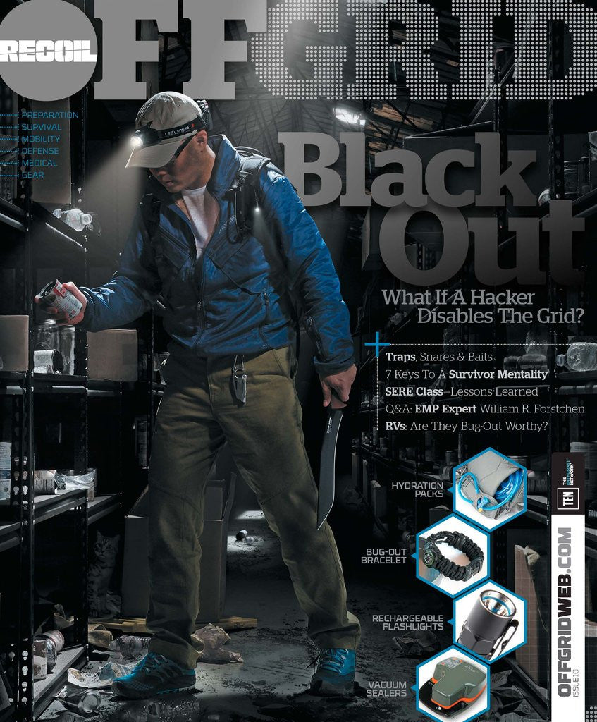 Outdoor Edge on the cover of Recoil Offgrid