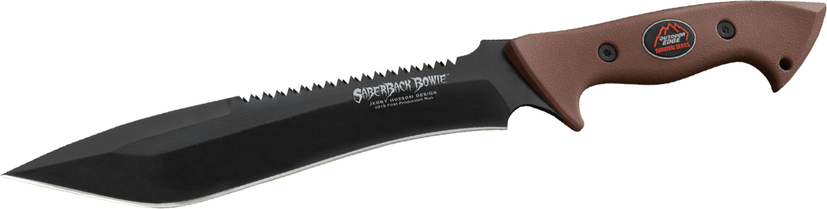 Saberback Bowie Survival Bowie Knife Outdoor Edge