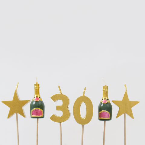 30th Milestone Cake Candles