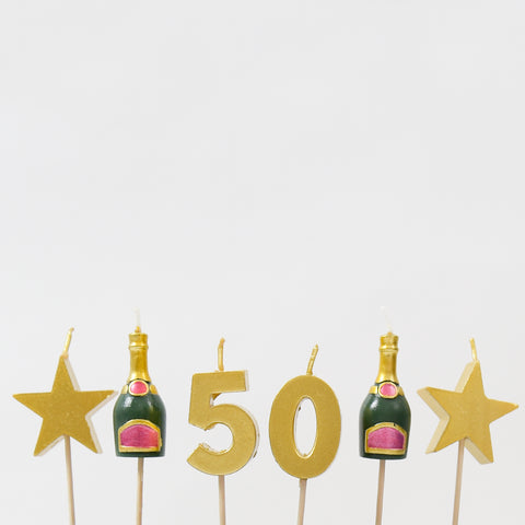 50th Milestone Cake Candles