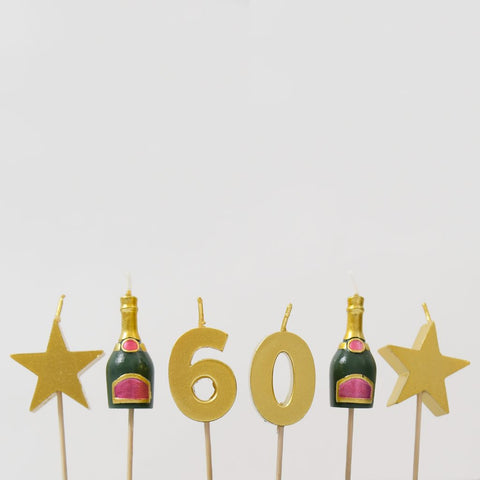 60th Milestone Cake Candles