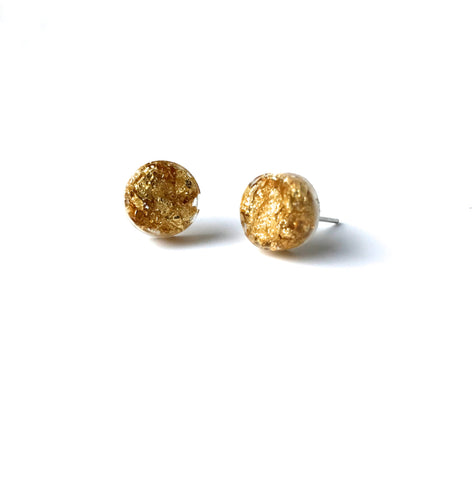 Resin Gold Circle Earring