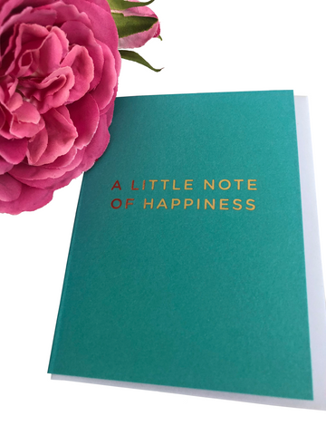 A Little Note Of Happiness