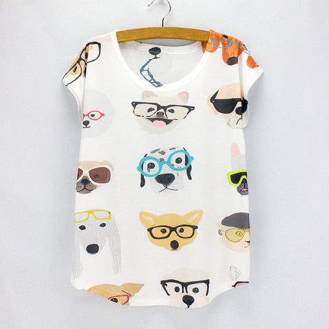 Tail Wagger Dog Specs Printed Tee