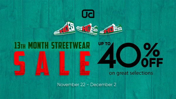 13TH MONTH STREETWEAR SALE