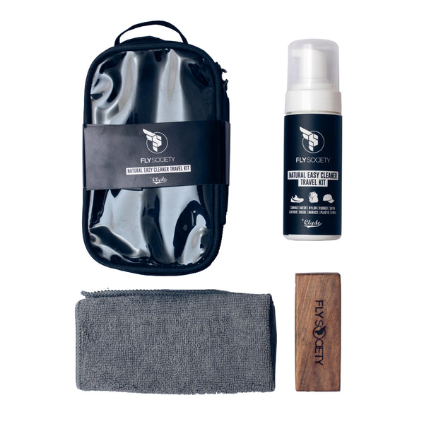 Get a Free Fly Society Easy Cleaner Travel Kit worth P895  for a minimum purchase of P3500 on all Regular Priced Items