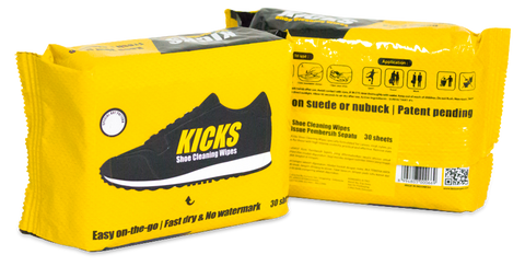 KICKS Shoe Cleaning Wipes-30 Sheets