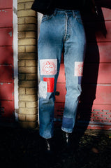 Red Bitmap Jeans