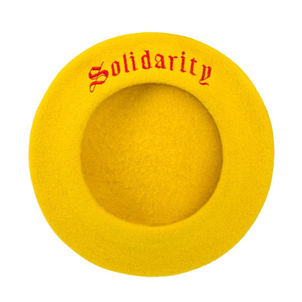Yellow Solidarity Beret