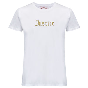 Embroidered Justice Tshirt