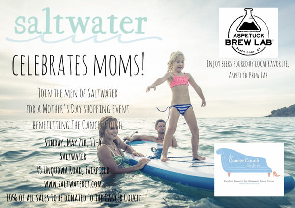 Join Saltwater on May 7th to Celebrate Moms!