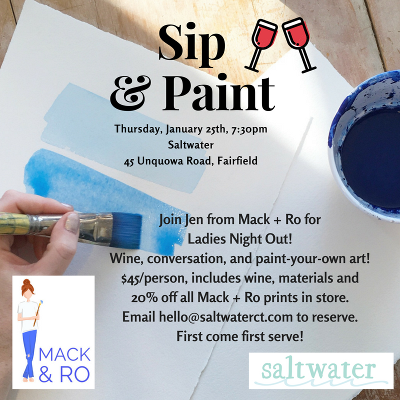 Join Us! Our First Sip & Paint Workshop!