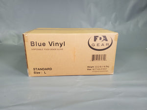 Disposable Blue Vinyl  Glove,  4Mil  Food Grade