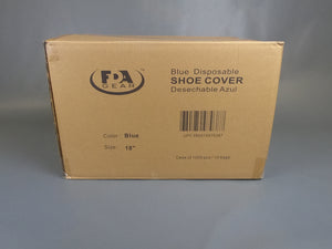 "Blue Shoe Covers 18"" Economy  1000pcs / case"