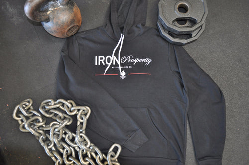 Iron Prosperity Font Ace Hoodie - Black/White