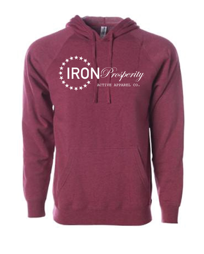 Essential Pullover Hoodie - Crimson Heather