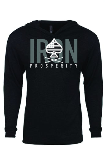 Unisex Conquer Light Weight Hoodie - Heather Black