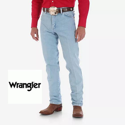 Wrangler Mens Cowboy Cut 13MWZ Jeans in Bleach Wash