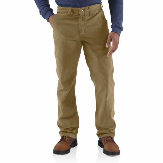 CARHARTT RUGGED WORK KHAKI PANT MEN'S RELAXED FIT 100095DK DARK KHAKI 36 LENGTH