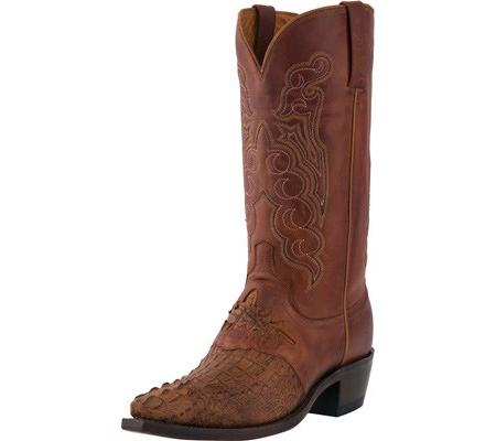 LUCCHESE MEN'S M2536.54 SNIP TOE COWBOY HEEL SADDLE BOOT (FREE SHIPPING)