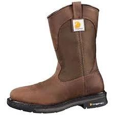 "Carhartt Rugged Flex Square Toe Wellington CMP1108 Men's 11"" Dark Bison Brown"