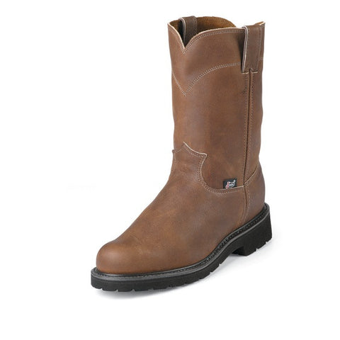 "JUSTIN Men's 10"" Work Boot 4795 (Free Shipping) CALL 205-339-0387 FOR SIZE AVAILABILTY"