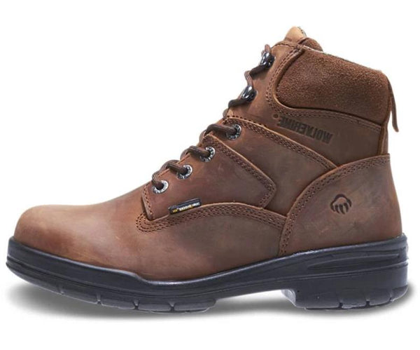 "WOLVERINE MEN'S DURASHOCKS® SLIP RESISTANT STEEL-TOE 6"" WORK BOOT W02053"