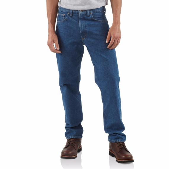 CARHARTT STRAIGHT/TRADITIONAL-FIT TAPERED-LEG JEAN MEN'S STRAIGHT TRADITIONAL FIT B18 DARKSTONE