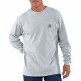Carhartt K126 Long Sleeve white T-Shirt, White