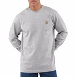 Carhartt K126 Long Sleeve T-Shirt, Heather Gray