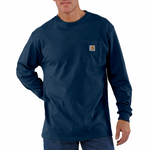 Carhartt K126 Long Sleeve T-Shirt, Navy