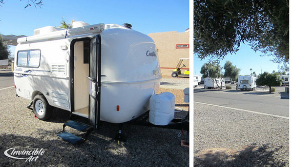 Our site at the KOA campground in Tucson