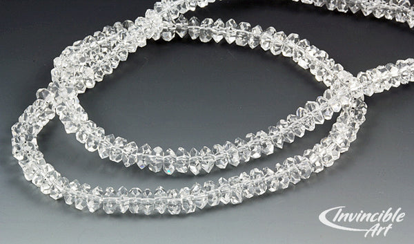 Herkimer diamonds faceted beads top quality AA