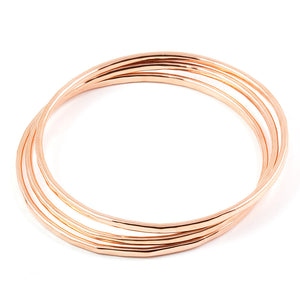 Set of 3 jingly copper bangles bracelets