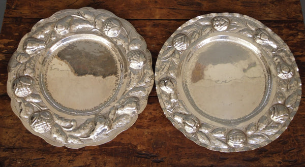 Two Alpaca Silver Trays from Bolivia