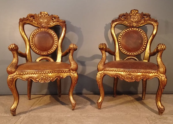 Pair of Sultans chairs from Indonesia