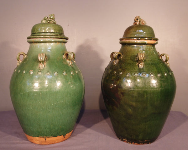 Green Martaban Jars from Indonesia