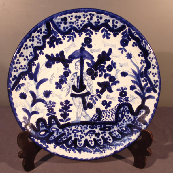 Talavera Plate from Mexico with a Chinese Motif.