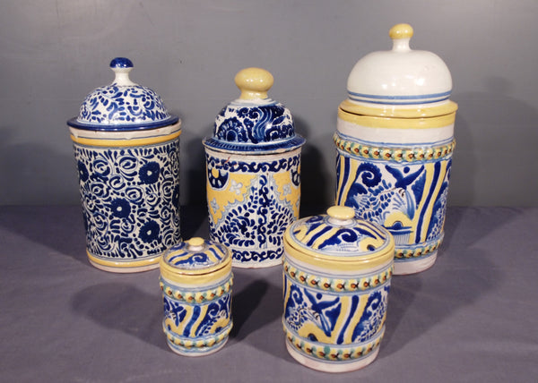 Set of Talavera Tea and Spice Canisters