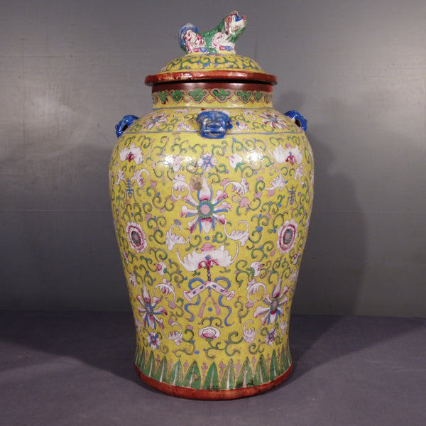 Chinesco Style Glazed Jar from the Philippines